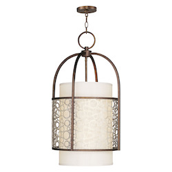 Livex Lighting Palacial Bronze With Gilded Accents Foyer Hall Pendant