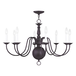 Livex Lighting Eight Light Bronze Up Chandelier