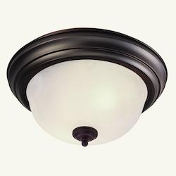 Livex Lighting Three Light Bronze Bowl Flush Mount