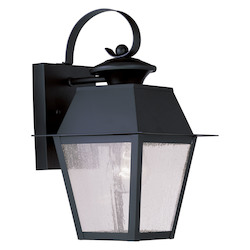 Livex Lighting Black Mansfield Medium Outdoor Wall Sconce With 1 Light