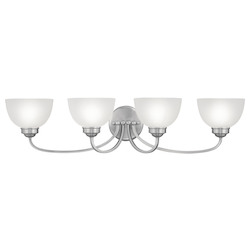 Livex Lighting Brushed Nickel 4 Light 400 Watt 33.75