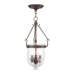 Livex Lighting Three Light Imperial Bronze Foyer Hall Pendant