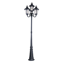 Livex Lighting Black Oxford 4 Light Outdoor Post Light - Post Included