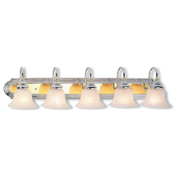 Livex Lighting Five Light Chrome & Polished Brass Vanity