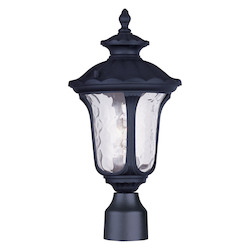 Livex Lighting Black Oxford 1 Light Outdoor Post Light