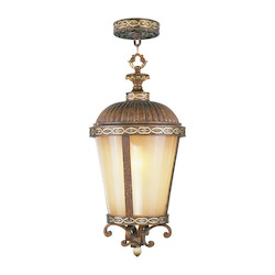 Livex Lighting Palacial Bronze Seville 1 Light Outdoor Pendant
