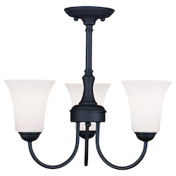 Livex Lighting Black Up Chandelier