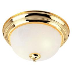 Livex Lighting Four Light Polished Brass Bowl Flush Mount