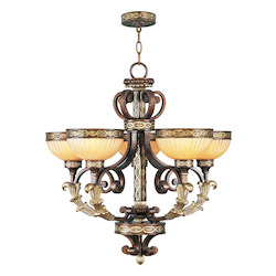 Livex Lighting Palacial Bronze Seville 5 Light 1 Tier Chandelier