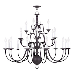 Livex Lighting Twenty Two Light Bronze Up Chandelier
