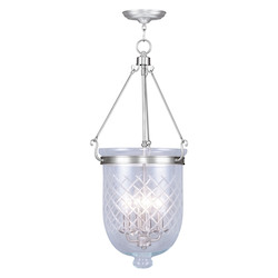 Livex Lighting Brushed Nickel Foyer Hall Semi-Flush Mount