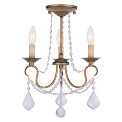 Livex Lighting Antique Gold Leaf Up Chandelier
