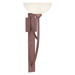 Livex Lighting Vintage Bronze Wall Light