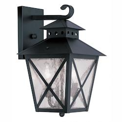 Livex Lighting Black Montgomery Large Outdoor Wall Sconce With 2 Lights