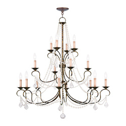Livex Lighting Sixteen Light Venetian Golden Bronze Up Chandelier
