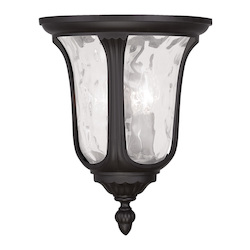 Livex Lighting Two Light Bronze Outdoor Flush Mount