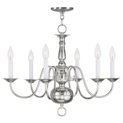 Livex Lighting Polished Nickel Up Chandelier