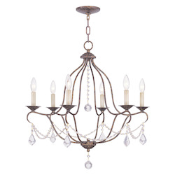Livex Lighting Venetian Golden Bronze Up Chandelier