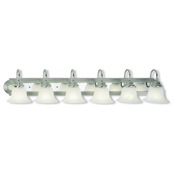 Livex Lighting Brushed Nickel And Chrome Vanity