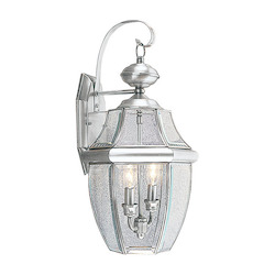 Livex Lighting Brushed Nickel Wall Lantern