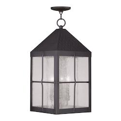 Livex Lighting Hammered Bronze Brighton Outdoor Pendant With 4 Lights