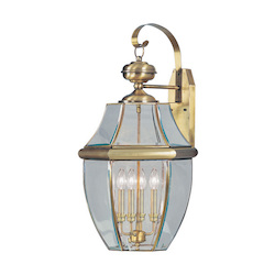 Livex Lighting Antique Brass Monterey 4 Light Outdoor Wall Sconce