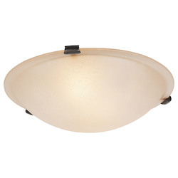 Livex Lighting Bronze Bowl Flush Mount