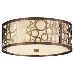 Livex Lighting Palacial Bronze Avalon 3 Light Flush Mount Ceiling Fixture