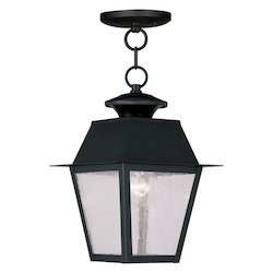 Livex Lighting Black Mansfield Outdoor Pendant With 1 Light