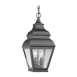Livex Lighting Black Exeter Outdoor Pendant With 2 Lights