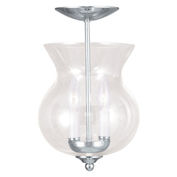 Livex Lighting Polished Nickel Bowl Semi-Flush Mount