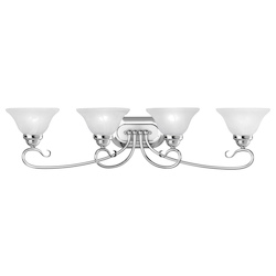 Livex Lighting Four Light Chrome Vanity