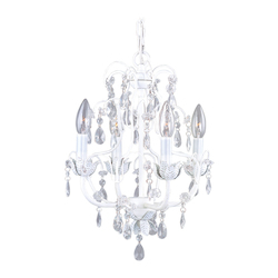 Livex Lighting Antique White 4 Light 240W Chandelier With Candelabra Bulb Base