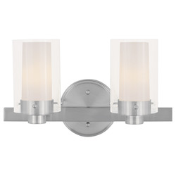 Livex Lighting Brushed Nickel 2 Light 120 Watt 14.5