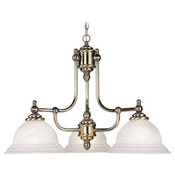 Livex Lighting Antique Brass North Port 3 Light 1 Tier Chandelier