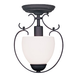 Livex Lighting Black Brookside 11 Inch Tall Mini Pendant With 1 Light