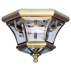 Livex Lighting Antique Brass Cage Flush Mount