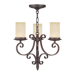 Livex Lighting Imperial Bronze Millburn Manor 3 Light 1 Tier Mini Chandelier