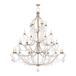 Livex Lighting Thirty Light Antique Silver Leaf Up Chandelier