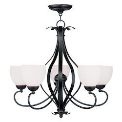Livex Lighting Olde Bronze Up Chandelier