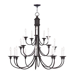 Livex Lighting Twenty Light Olde Bronze Up Chandelier