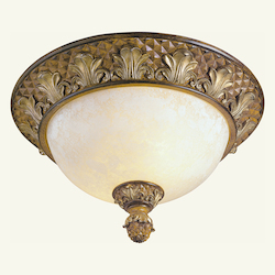 Livex Lighting Venetian Patina Bowl Flush Mount