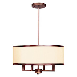 Livex Lighting Vintage Bronze Drum Shade Chandelier