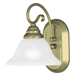 Livex Lighting Antique Brass Coronado 1 Light Wall Sconce