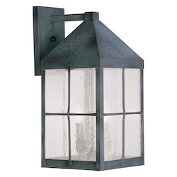 Livex Lighting Hammered Charcoal Finish Wall Lantern