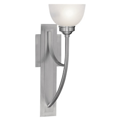 Livex Lighting Brushed Nickel 1 Light 100 Watt 6.5