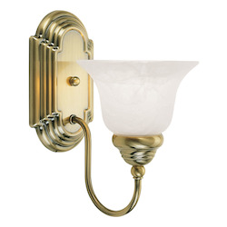 Livex Lighting Antique Brass Bathroom Sconce