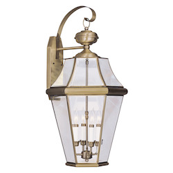Livex Lighting Antique Brass Wall Lantern