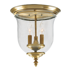 Livex Lighting Antique Brass Legacy 3 Light Flush Mount Ceiling Fixture