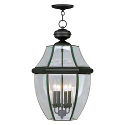 Livex Lighting Black Outdoor Foyer Hall Fixture